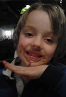 gsid sucraid boy patient eating chocolate ice cream